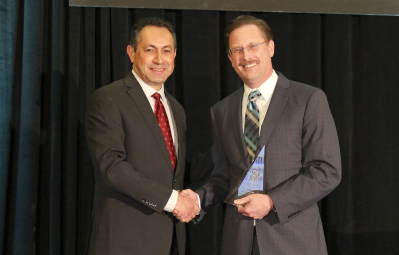 Tim Dupuis accepting CIO of the Year Award