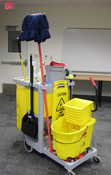 Photo of cleaning cart.