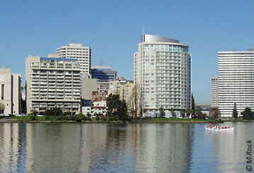 photo of buildings near Lake Merritt